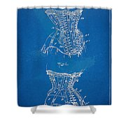 Corset Patent Series 1908 Shower Curtain