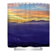 Corsican Sunset Shower Curtain
