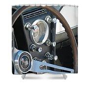 Corvette Console Shower Curtain