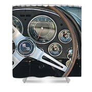 Corvette Dash Shower Curtain