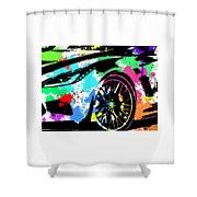 Corvette Pop Art 3 Shower Curtain