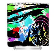 Corvette Pop Art 3 Shower Curtain