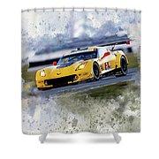 Corvette Racing Shower Curtain