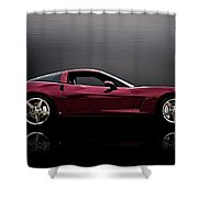 Corvette Reflections Shower Curtain