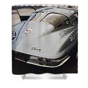 Corvette Split Window Shower Curtain