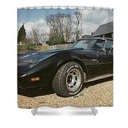 Corvette Stingray C3 Shower Curtain