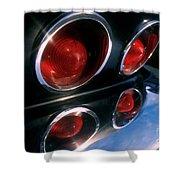 Corvette Tail Lights Shower Curtain