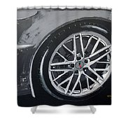Corvette Wheel Shower Curtain
