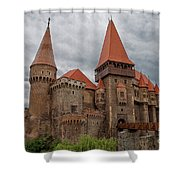 Corvin's Castle Shower Curtain by Yair Karelic