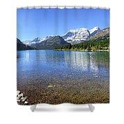 Cosley Lake Outlet - Glacier National Park Shower Curtain