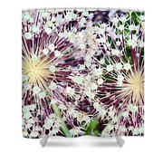 Cosmic Blooms Shower Curtain