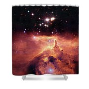 Cosmic Cave Shower Curtain by Jennifer Rondinelli Reilly - Fine Art Photography