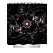 Cosmic Clockworks Shower Curtain