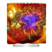 Cosmic Collision Shower Curtain