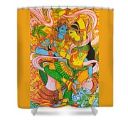 Cosmic Dance Of Krsna  Shower Curtain