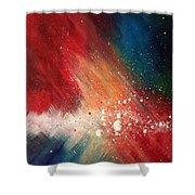 Cosmic Disturbance Shower Curtain