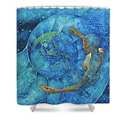 Cosmic Embrace Shower Curtain