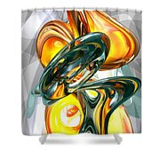 Cosmic Flame Abstract Shower Curtain