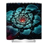 Cosmic Flower Shower Curtain