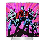 Cosmic Guardians Of The Galaxy 2 Shower Curtain