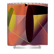 Cosmic Lifecircuits Shower Curtain