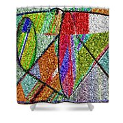 Cosmic Lifeways Mosaic Shower Curtain