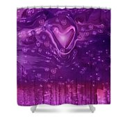 Cosmic Love Shower Curtain