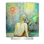 Cosmic Man Shower Curtain