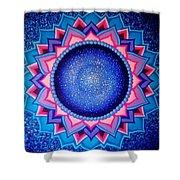 Cosmic Mandala  Shower Curtain