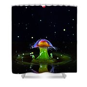 Cosmic Mushroom Shower Curtain