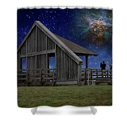Cosmic Observation Deck Shower Curtain
