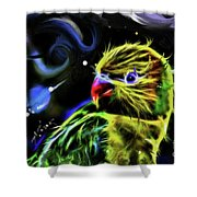 Cosmic Parrot  Shower Curtain