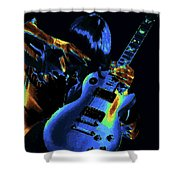 Cosmic Rock Guitar Shower Curtain