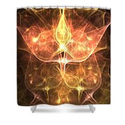 Cosmic Rosebuds Shower Curtain