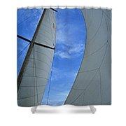 Cosmic Sails Shower Curtain
