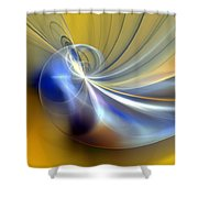 Cosmic Shellgame Shower Curtain