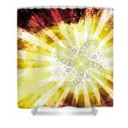 Cosmic Solar Flower Fern Flare 2 Shower Curtain
