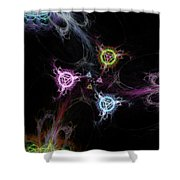 Cosmic Symbols Shower Curtain
