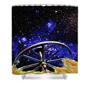 Cosmic Wheel Shower Curtain