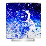 Cosmic Wonders Cropped Shower Curtain