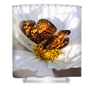 Cosmo Visitor 2 Shower Curtain
