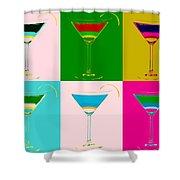 Cosmopolitan Pop Art Panels Shower Curtain