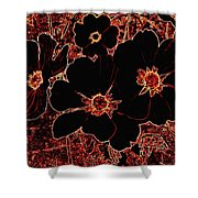 Cosmos Caliente Shower Curtain