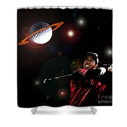 Cosmos Golf Shower Curtain