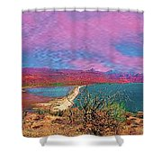 cosome bay Baja Mexico Shower Curtain
