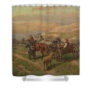 Cossak Convoy Shower Curtain