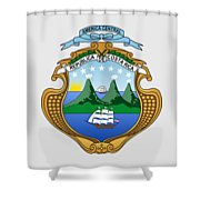 Costa Rica Coat Of Arms Shower Curtain