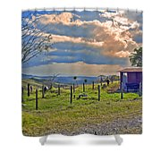 Costa Rica Cow Farm Shower Curtain