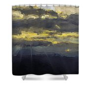 Costa Rica From The Skies Shower Curtain