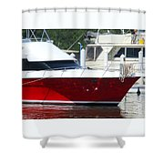 Costa Rica Red 3 Shower Curtain